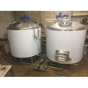 Пивоварня 300 л. за одну варку, с облицовкой из нержавеющей стали  (ЦЕНА ПО ЗАПРОСУ)
