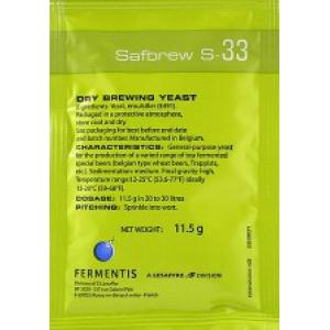 Пивные дрожжи Fermentis Safbrew S-33 (Франция) 11,5 гр.