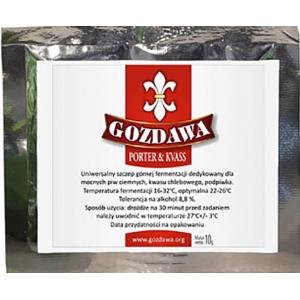 Пивные дрожжи Gozdawa POKV Porter&Kvass (Польша), 10 гр.